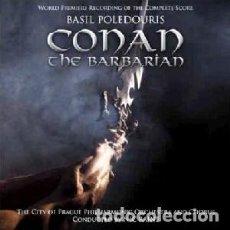 CDs de Música: CONAN EL BÁRBARO - CONAN THE BARBARIAN (2 CDS) MÚSICA COMPUESTA POR BASIL POLEDOURIS. Lote 144133798