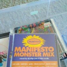 CDs de Música: VARIOUS - MANIFESTO MONSTER MIX. Lote 144178629