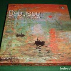 CDs de Música: CLAUDE DEBUSSY / ORCHESTRAL WORKS / JEAN MARTINON / BRILLIANT CLASSICS / 4 CD. Lote 144237514