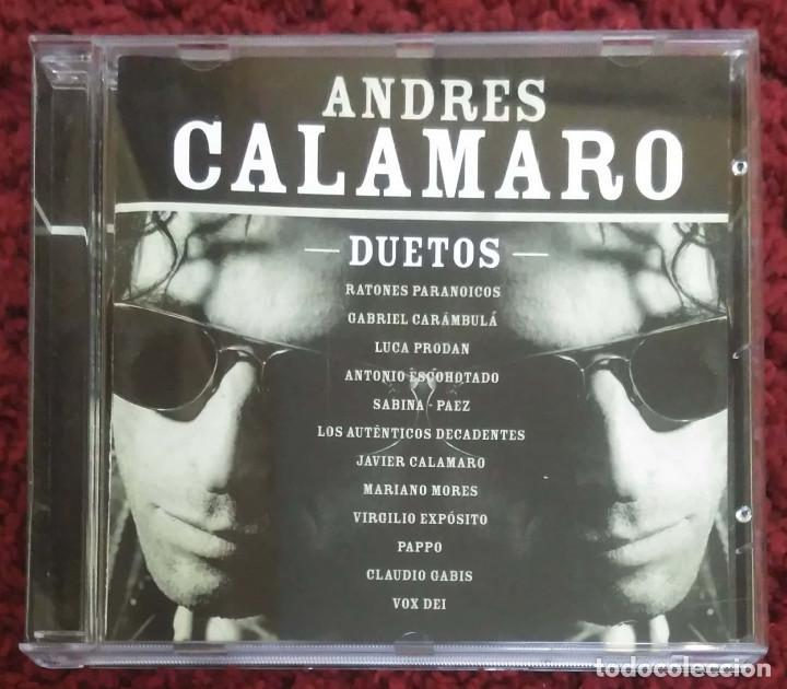 ANDRES CALAMARO (DUETOS) CD 2001 ARGENTINA (FITO PAEZ, JOAQUIN SABINA, RATONES PARANOICOS...) (Música - CD's Rock)