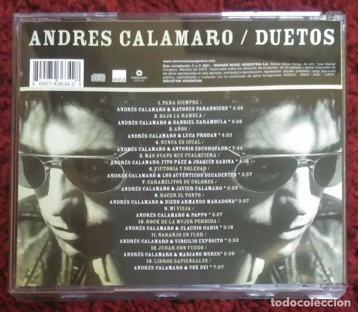 CDs de Música: ANDRES CALAMARO (DUETOS) CD 2001 Argentina (FITO PAEZ, JOAQUIN SABINA, RATONES PARANOICOS...) - Foto 2 - 144242590