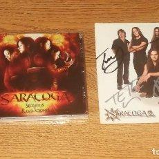 CDs de Música: SARATOGA CD SECRETOS...+ POSTCARD PROMO SIGNED/FIRMADA-SAUROM-AVALANCH-ZENOBIA-MAGO DE OZ. Lote 144293374