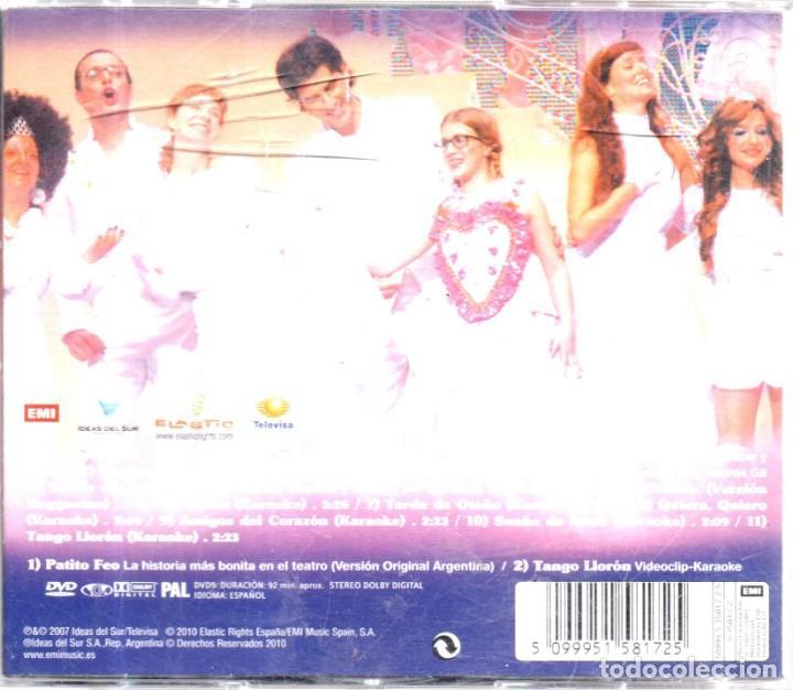 CDs de Música: VESIV 2 CDS PATITO FEO ALA HISTORIA MAS BONTA EN EL TEATRO VERSION ORIGINAL ARGENTINA 1 CD Y 1 DVD - Foto 2 - 144365946