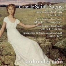 CDs de Música: CAMILLE SAINT-SAËNS - VARIAS OBRAS (SACD) GILELS, STERN, ROSTROPOVICH Y GRUMIAUX. Lote 144449190