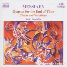 CDs de Música: OLIVIER MESSIAEN - QUARTET FOR THE END OF TIME (CD) AMICI ENSEMBLE. Lote 144450458