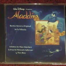 CDs de Música: B.S.O. ALADDIN (BANDA SONORA ORIGINAL DE LA PELICULA) CD 1993 - MÚSICA DE ALAN MENKEN - DISNEY. Lote 144491294