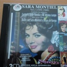 CDs de Música: SARA MONTIEL VOL.2 (1959-1960) DOBLE CD RAMA LAMA. Lote 144513470