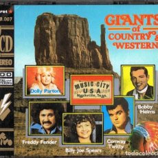 CDs de Música: GIANTS OF COUNTRY & WESTERN ( 2 CD). Lote 144565034