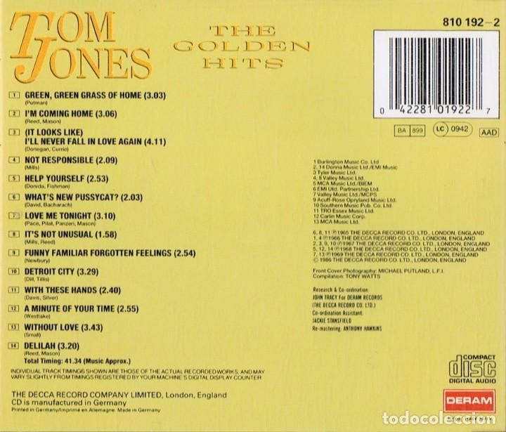 CDs de Música: TOM JONES THE GOLDEN HITS - Foto 2 - 144570094