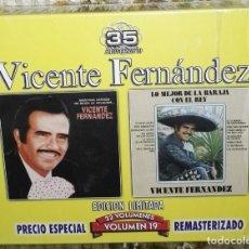 CDs de Música: VICENTE FERNANDEZ SERIE LIMITADA 35 ANIVERSARIO VOLUME 19 2 CD. Lote 144601106
