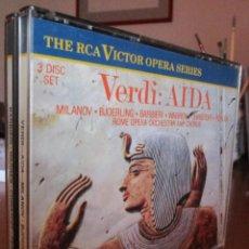 CDs de Música: AIDA - ZINKA MILANOV, FEDORA BARBIERI, JUSSI BJÖERLING, LEONARD WARREN. 2CD. Lote 144637646