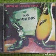 CDs de Música: LOS RONALDOS (QUIERO QUE ESTEMOS CERCA) 2 CD'S 1996. Lote 144696238