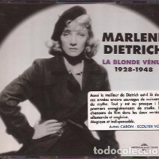 CDs de Música: CD MARLENE DIETRICH LA BLONDE VENUS 1928/48 DOBLE CD. Lote 144705274