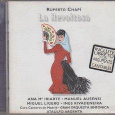 CDs de Música: LA REVOLTOSA CD RUPERTO CHAPÍ 1996 GRABACIÓN DE 1958 ATAÚLFO ARGENTA. Lote 144760010