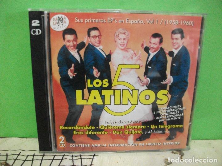 LOS 5 LATINOS 1958-1960 VOL. 1 SUS PRIMEROS EP'S EN ESPAÑA DOBLE CD NUEVO¡¡ PEPETO (Música - CD's Pop)