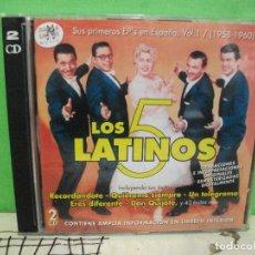 CDs de Música: LOS 5 LATINOS 1958-1960 VOL. 1 SUS PRIMEROS EP'S EN ESPAÑA DOBLE CD NUEVO¡¡ PEPETO. Lote 144770534