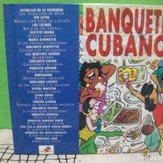 CDs de Música: VARIOS - BANQUETE CUBANO - CD LIBRO NUEVO¡¡ PEPETO. Lote 144785534