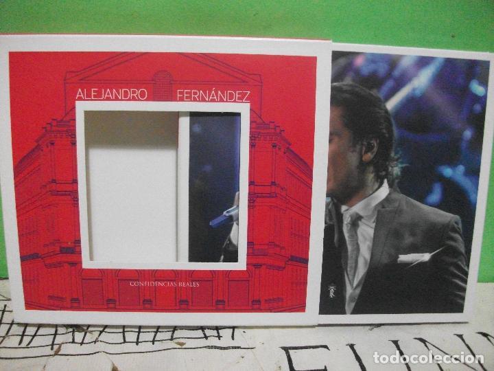 CDs de Música: ALEJANDRO FERNANDEZ CONFIDENCIAS REALES DOBLE CD + DVD + POSTER TEATRO REAL DE MADRID PEPETO - Foto 2 - 144785878