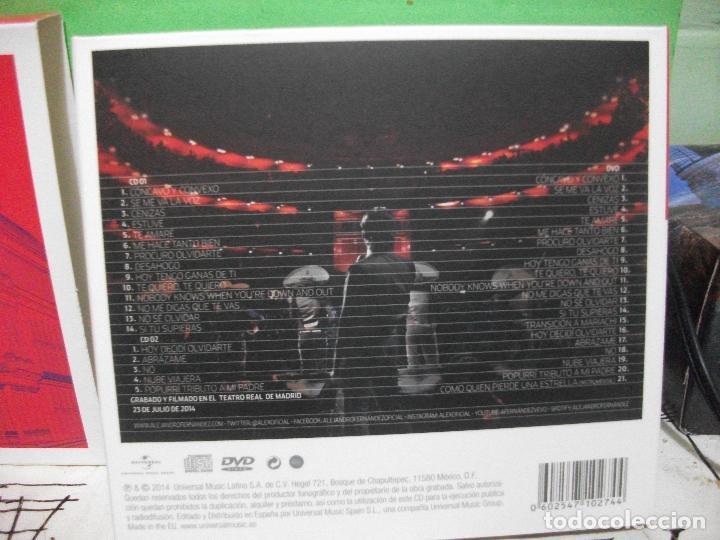 CDs de Música: ALEJANDRO FERNANDEZ CONFIDENCIAS REALES DOBLE CD + DVD + POSTER TEATRO REAL DE MADRID PEPETO - Foto 4 - 144785878
