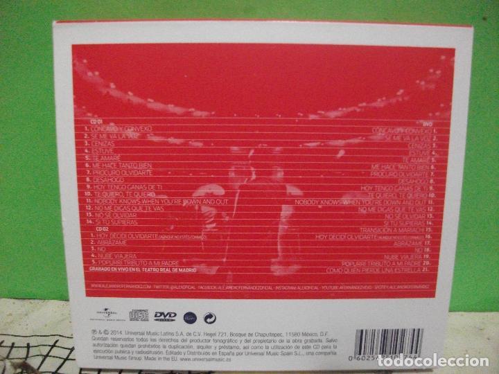 CDs de Música: ALEJANDRO FERNANDEZ CONFIDENCIAS REALES DOBLE CD + DVD + POSTER TEATRO REAL DE MADRID PEPETO - Foto 5 - 144785878
