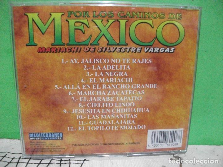 CDs de Música: POR LOS CAMINOS DE MEXICO MARIACHI SILVESTRE VARGAS CD ALBUM NUEVO¡¡ PEPETO - Foto 2 - 144793270