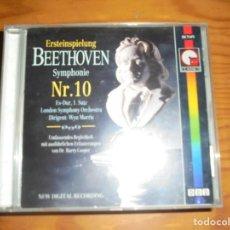 CDs de Música: BEETHOVEN. SYMPHONIE NR. 10. IMP, EDC. AUSTRIA. CD PEQUEÑO . IMPECABLE. Lote 144824794