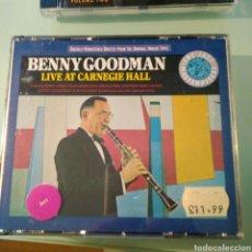 CDs de Música: BENNY GOODMAN – LIVE AT CARNEGIE HALL (DOBLE CD). Lote 144866806