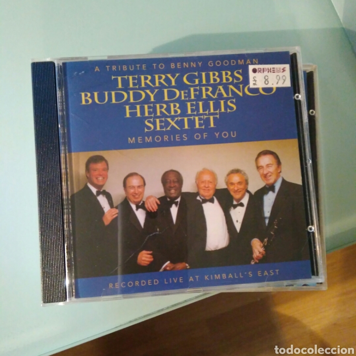 CDs de Música: Terry Gibbs, Buddy DeFranco, Herb Ellis Sextet– A Tribute to Benny Goodman: Memories of You - Foto 1 - 144900730
