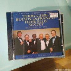 CDs de Música: TERRY GIBBS, BUDDY DEFRANCO, HERB ELLIS SEXTET– A TRIBUTE TO BENNY GOODMAN: MEMORIES OF YOU. Lote 144900730