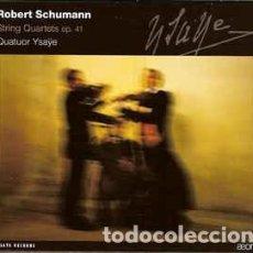 CDs de Música: ROBERT SCHUMANN - STRING QUARTET NOS.1 ,2,3 - OP.41 (CD) QUATOR YSAYE. Lote 144993042