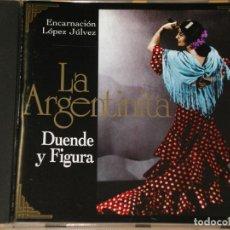 CDs de Música: LA ARGENTINITA, ENCARNACIÓN LÓPEZ JÚLVEZ, DUENDE Y FIGURA, CD, EXCELENTE ESTADO. Lote 145002730