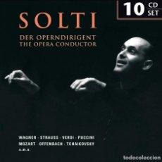 CDs de Música: SOLTI DER OPERNDIRIGENT BOX SET * 10 CD * THE OPERA CONDUCTOR * CAJA PRECINTADA!. Lote 88999816