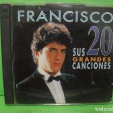 CDs de Música: FRANCISCO SUS GRANDES 20 CANCIONES DOBLE CD ALBUM DEL AÑO 1996 LATINO HIMNO A VALENCIA ¡¡ PEPETO. Lote 145128246