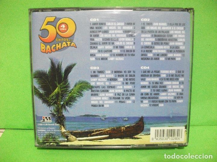 CDs de Música: 4 x cd s album ) 50 ÉXITOS DE LA BACHATA JM RECORDS - 2002 - NUEVO ¡¡¡ PEPETO - Foto 2 - 145128514
