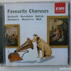 CDs de Música: FAVOURITE CHORUSES. BARBIROLLI - BARENBOIM - HAITINK - KLEMPERER - MACKERRAS - MUTI. EMI CLASSICS. C. Lote 145224742