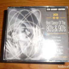CDs de Música: BEST DANCE OF THE 80´S & 90´S. 2 CD´S. GALAXY, 2003 . LUXURY EDITION . IMPECABLE. Lote 145268290