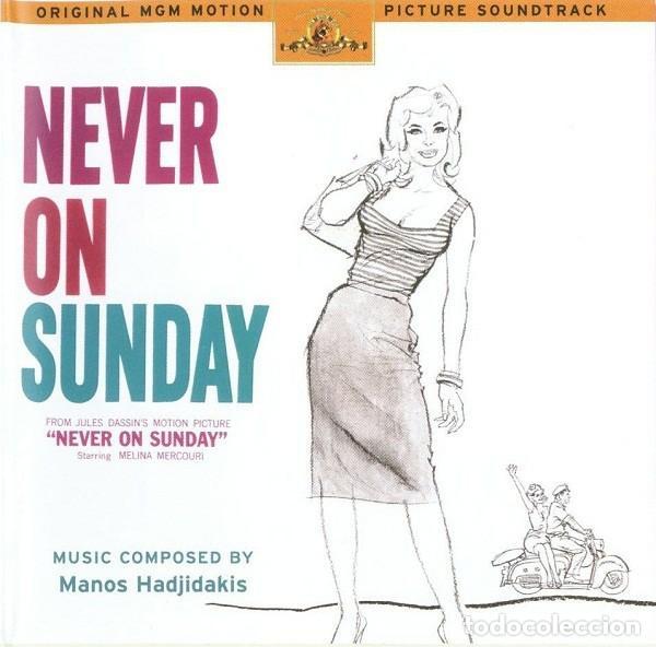 NEVER ON SUNDAY / MANOS HADJIDAKIS CD BSO (Música - CD's Bandas Sonoras)
