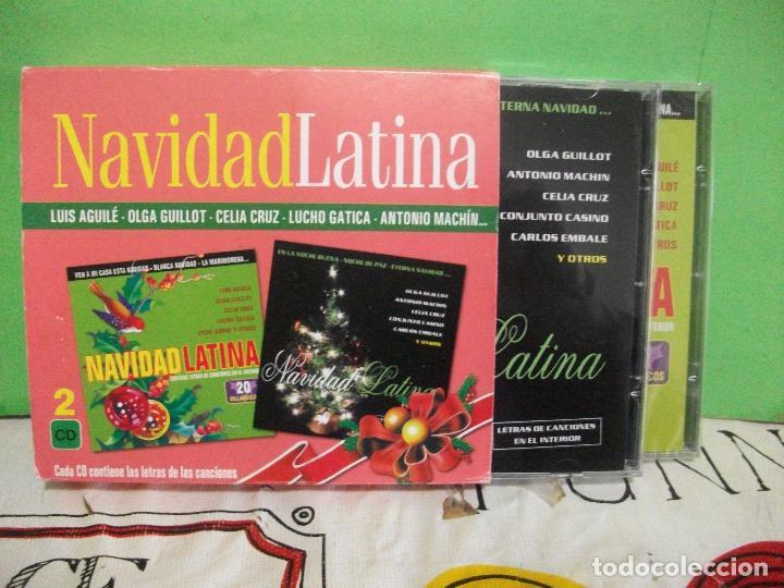 DOBLE CD NAVIDAD LATINA VILLANCICOS AGUILE CELIA CRUZ LUCHO GATICA EYDIE GORME LOS PANCHOS PEPETO (Música - CD's World Music)
