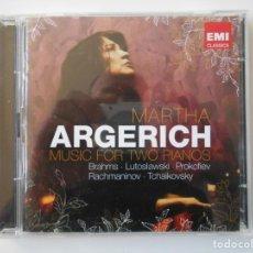 CDs de Música: MARTA ARGERICH. MUSIC FOR TWO PIANOS. BRAHMS. LUTOSLAWSKI. PROKOFIEV. RACHMANINOV. TCHAIKOVSKY. DOBL. Lote 145423194