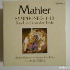 CDs de Música: MAHLER. SYMPHONIES 1 -10. DAS LIED VON DER ERDE. RADIO-SINFONIE-ORCHESTER FRANKFURT. ELIAHU INBAL. E. Lote 192913066