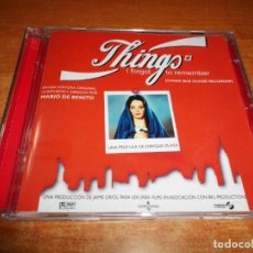 CDs de Música: COSAS QUE OLVIDE RECORDAR BANDA SONORA THINGS I FORGOT TO REMEMBER DE BENITO CD ALBUM 1999 RARO. Lote 145648106