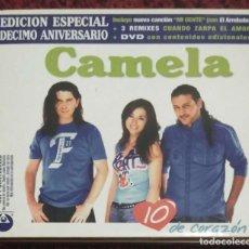 CDs de Música: CAMELA (10 DE CORAZÓN - EDICION ESPECIAL 10º ANIVERSARIO) CD + DVD 2004. Lote 145661794