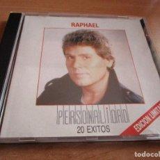 CDs de Música: CD RAPHAEL PERSONALIDAD20 EXITOS EDICION LIMITADA ( MEXICO ) ESCANDALO // TARANTULA // MIENTETE //. Lote 145787350