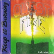 CDs de Música: QUEST FOR FIRE--KEEP IT BURNING --REGGAE. Lote 145892218