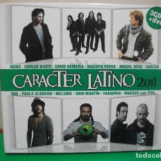 CDs de Música: CARACTER LATINO 2011 DIGIPACK 3 X CDS +DVD COMO NUEVO¡¡. Lote 145958678