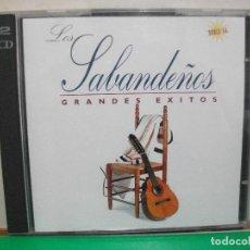CDs de Música: LOS SABANDEÑOS GRANDES EXITOS DOBLE CD ALBUM 1995 ZAFIRO NUEVO¡¡. Lote 145969458