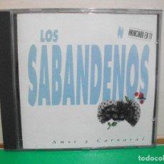 CDs de Música: CD ALBUM - LOS SABANDEÑOS - AMOR Y CARNAVAL PEPETO. Lote 145969802