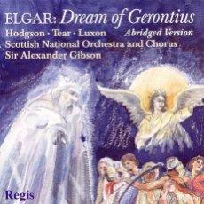 CDs de Música: EDWARD ELGAR / DREAM OF GERONTIUS (ABRIDGED VERSION). Lote 146000206