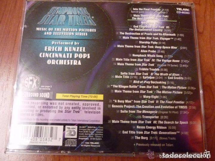 CDs de Música: SYMPHONIC STAR TREK - Music from the Motion Pictures & Television Series *IMPECABLE* - Foto 2 - 146077598