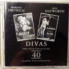 CDs de Música: 2 CD DIVAS - THE GOLD COLLECTION. 40 CLASSIC PERFORMANCES. MARLENE DIETRICH, RITA HAYWORTH. Lote 146081026